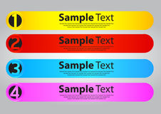 Four color speech templates for text Royalty Free Stock Images