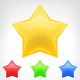 Four color star element pack isolated Royalty Free Stock Photo