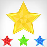 Four color star element set isolated Stock Photo