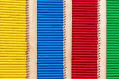 Four color strip with pencils Royalty Free Stock Photography