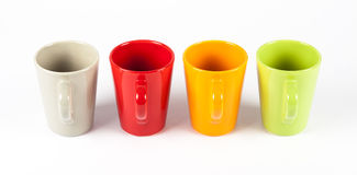 Four color tea cups Royalty Free Stock Photography