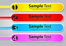 Four color text box templates Royalty Free Stock Photo