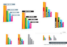 Four Color Vector Charts Stock Images