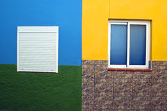 Four-color wall Royalty Free Stock Photo