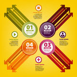 Four colored arrows in infographic style.  Royalty Free Stock Images