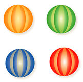 Four colored balls Stock Photography