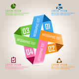 Four colored business infographics on square design Stock Image