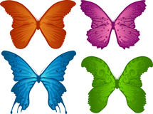 Four colored butterflies Royalty Free Stock Photo