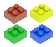 Four colored child blocks Royalty Free Stock Images