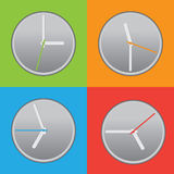 Four colored clock Royalty Free Stock Images