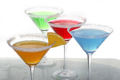 Four colored cocktails 3 Stock Images