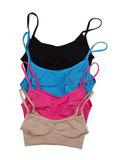 Four colored cotton bra. Royalty Free Stock Image