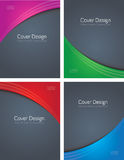 Four Colored Covers On Grey. Abstract design for four different booklet or brochure covers Royalty Free Stock Image