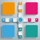 Four Colored Cross Banners Batched Rectangles PiAd Royalty Free Stock Image
