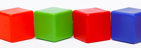Colored cubes Royalty Free Stock Photo