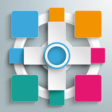 Four Colored Double Banners Batched Rectangles Royalty Free Stock Photography
