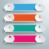 Four Colored Double Speech Bubble Banners PiAd Royalty Free Stock Photos