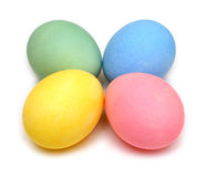 Four colored easter eggs Stock Photo