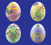 Four colored eggs Royalty Free Stock Photo