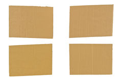 Four Colored Four Pieces of Cardboard Royalty Free Stock Photo
