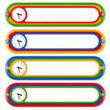 Four colored frames. For any text and watches stock illustration