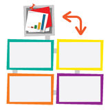 Four colored frames Stock Photo