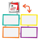 Four colored frames Stock Images