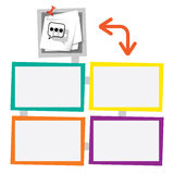Four colored frames Stock Photography