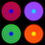 Four colored gear. Royalty Free Stock Images