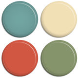 Four colored magnetic buttons Stock Photos