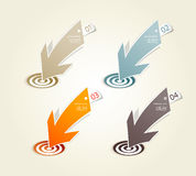 Four colored paper arrows Stock Image