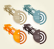 Four colored paper arrows. Stock Images