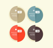 Four colored paper circles. Stock Images
