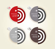 Four colored paper circles Stock Images