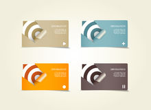 Four colored paper notes. Royalty Free Stock Photography