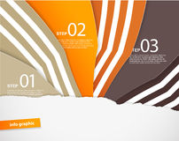Four colored paper notes with place for your own text. Royalty Free Stock Photography