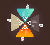 Four colored paper triangles Royalty Free Stock Photos