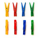 Four colored pegs Royalty Free Stock Images