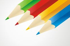 Four colored pencils Royalty Free Stock Image