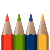 Four colored pens Stock Image
