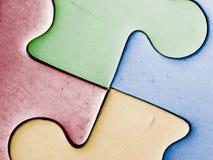 Four colored pieces Stock Photos