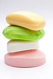 Four colored soap. Close up Stock Image