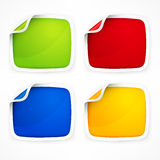Four colored stickers Stock Photo