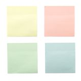 Four colored sticky notes Royalty Free Stock Photography