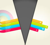 Four colored stripes Royalty Free Stock Photos