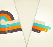 Four colored stripes with place for your own text. Royalty Free Stock Photos