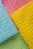 Four colored terry towels Royalty Free Stock Image