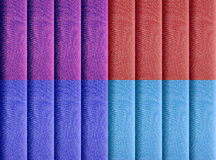 Four colored vertical blinds Royalty Free Stock Photo