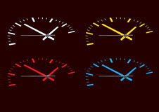 Four colored watch face Stock Image