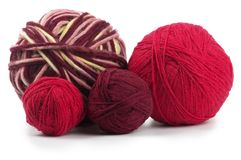 Four colored wool clews Stock Images